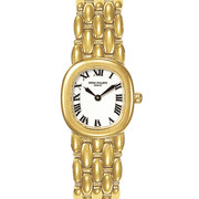 Pre-owned Patek Phillipe Ellipse 18kt Yellow Gold Watch, with White Roman Dial